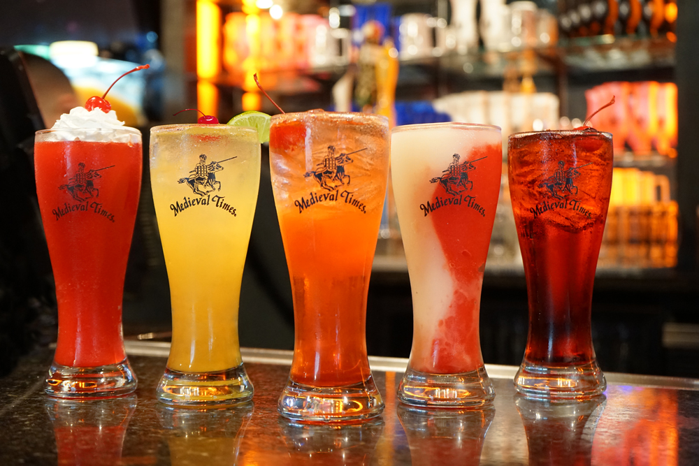 frozen drinks in pilsner glasses